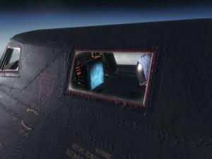 Black Ops в самолете перед монитором